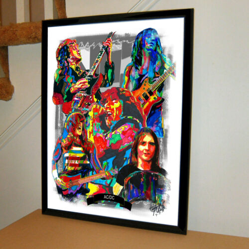 ACDC Angus Young Rock Music Poster Print 18x24
