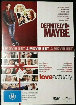 Definitely Maybe + Love Actually DVD (2 Disc) - Good Condition