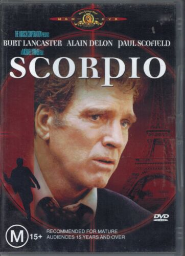 Scorpio DVD Movie - Burt Lancaster - FREE POST!