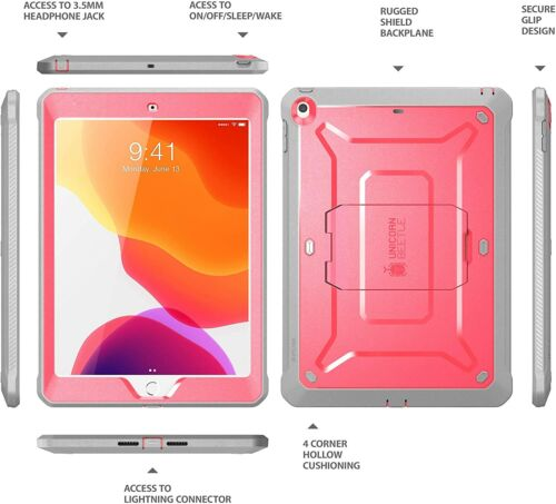 CASE for iPad 10.2 2019 7th Gen With Built-in Screen Protector Apple Cover Stand