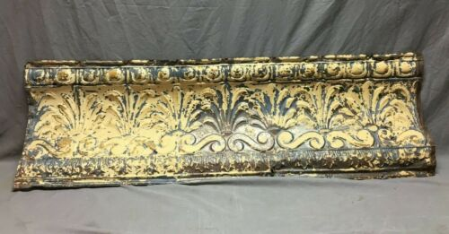 Large 4 Foot Antique Tin Ceiling Cove Trim  Decorative Architectural 446-20B