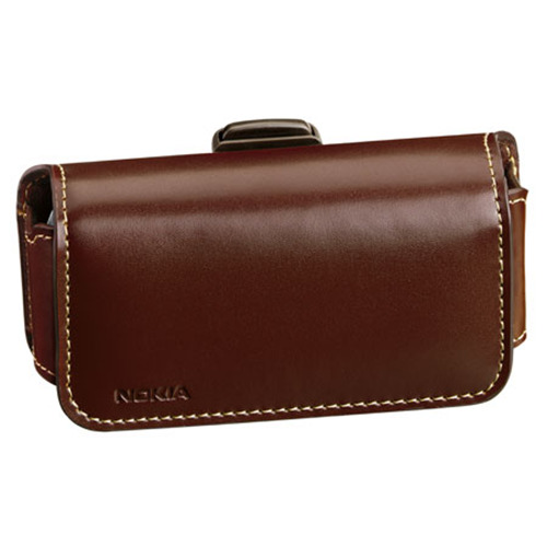PREMIUM LEATHER CARRYING CASE FOR NOKIA 2720 4G LTE FLIP PHONE WITH BELT CLIP
