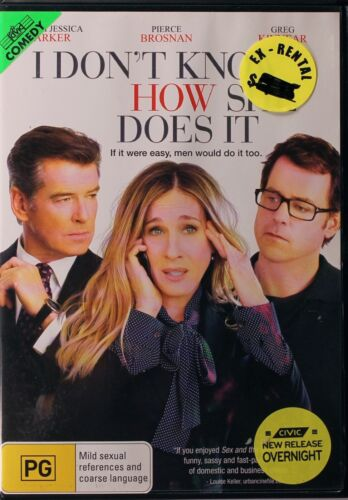 I Don't Know How She Does It DVD Movie - Pierce Brosnan - FREE POST!