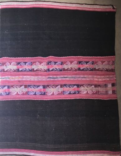 UNIQUE ANTIQUE WAIST WOVEN AWAYO FABRIC WALL HANGING MADE IN BOLIVIA AFP1 NEW