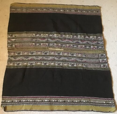 UNIQUE ANTIQUE WAIST WOVEN AWAYO FABRIC WALL HANGING MADE IN BOLIVIA AFB2 NEW