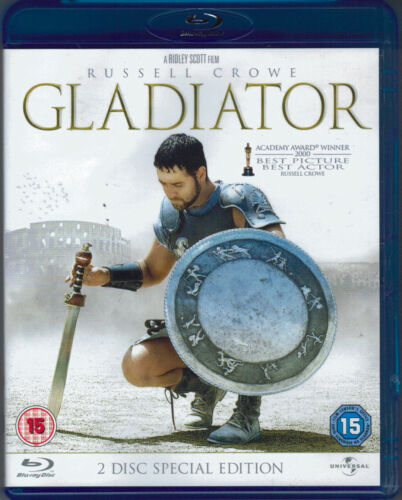 Gladiator Blu-Ray Movie - Russell Crowe - 2 Disc Special Edition - FREE POSTAGE!