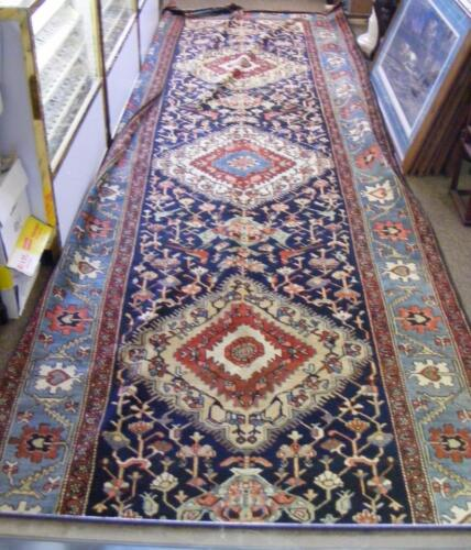 "Beautiful Antique Karabagh Hand Knotted Wool Rug  5'3"" x 16'"