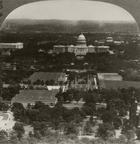 Keystone Stereoview of Capitol From Washington Mont. 1920s Scenic America Set #5