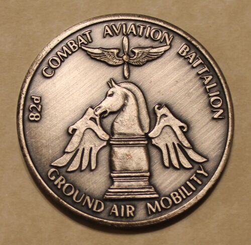 82nd Airborne Division Combat Aviation Battalion Serial #'d Army Challenge CoinOriginal Period Items - 13983