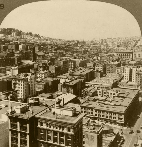 Keystone Stereoview View Overlooking San Francisco, California Set 3 1910's #39
