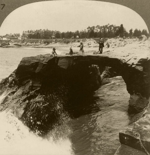 Keystone Stereoview of Arch Rock near Santa Cruz From California Set 3 1910s #37