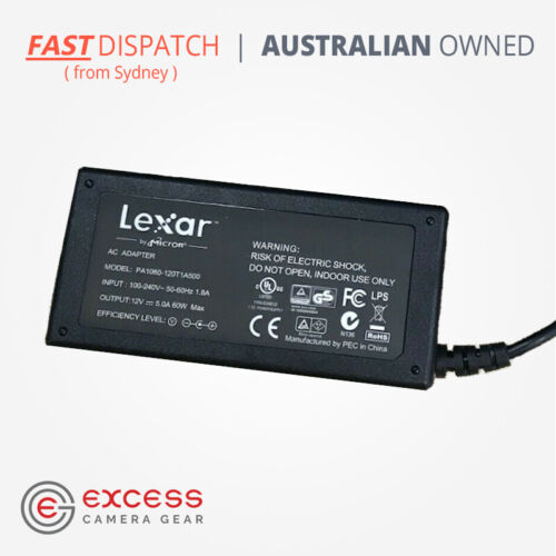 GENUINE Lexar 12V 60W AC Power Adapter - PA1060-120T1A500 - Ships from Sydney!!