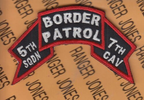 """5th Squadron 7th Cavalry Regiment ACR BORDER PATROL 4"""" scroll patch c/eOther Militaria - 135"""