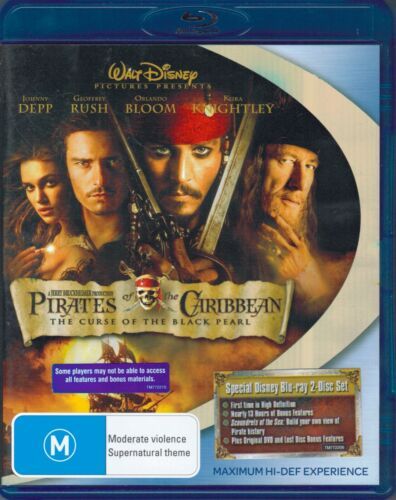 Pirates of the Caribbean - The Curse of the Black Pearl Blu-Ray Movie - Free Pos
