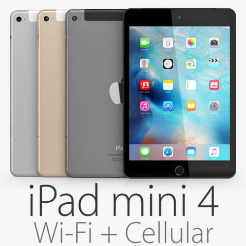 APPLE iPAD MINI 4 128GB 64GB 32GB 16 BLACK GOLD UNLOCKED WIFI CELLULAR AUS 4G