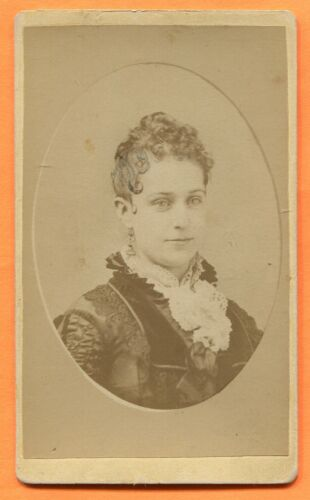 CDV Baltimore, MD, Portrait of a Young Woman, by Mosher, circa 1870s Backstamp