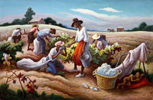 Cotton Pickers Painting by Thomas Hart Benton Art Reproduction