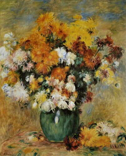 Bouquet of Chrysanthemums Painting by Auguste Renoir Art Reproduction