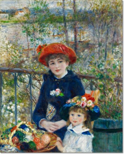 Stretched Canvas - The Two Sisters Painting by Auguste Renoir Reproduction