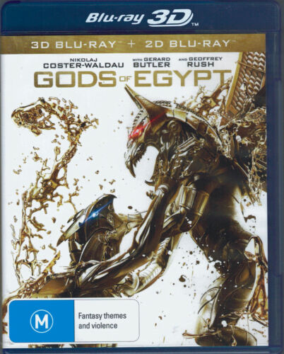 Gods of Egypt 3D Blu-Ray Movie - Gerard Butler - FREE POST!