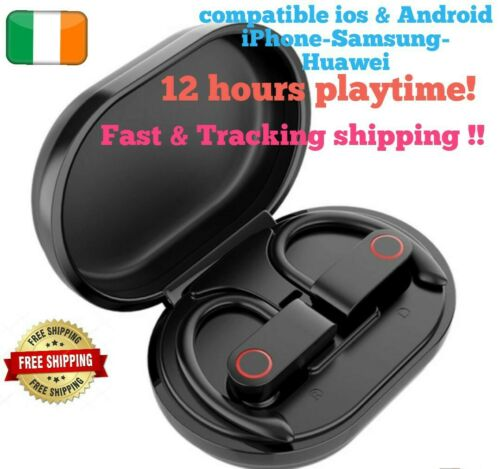 Sweatproof Wireless Headphones Earphones  huawei Samsung iPhone Sports Earbuds <br/> ✔️Mega BASS✔️COMPATIBLE ALL ANDROID & ISO✔️IRISH STOCK