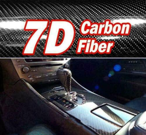 7d High Gloss Black Carbon Fiber Vinyl Wrap Release New Air Z1m6 Bubble Z8h1