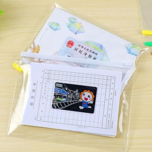 Clear Exam Pencil Case Coloured Zips - Pen Office Stationery Best Y4o4