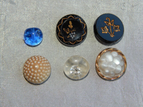 Lot of Antique Vintage Glass Buttons #739-E
