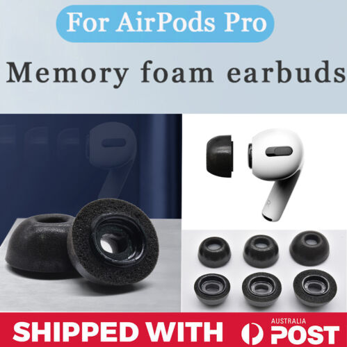 3 Pairs (SML) Apple Airpod Pro Replacement Memory Foam Eartips Ear Tips