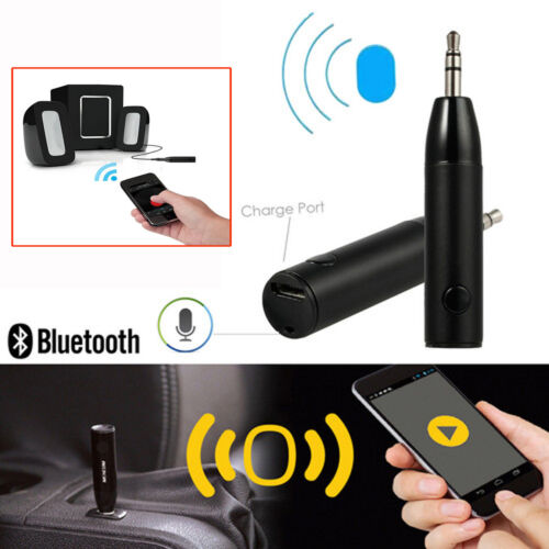 Wireless Bluetooth Receiver 3.5mm Audio Headphone Adaptor For Mic Car Aux Speake