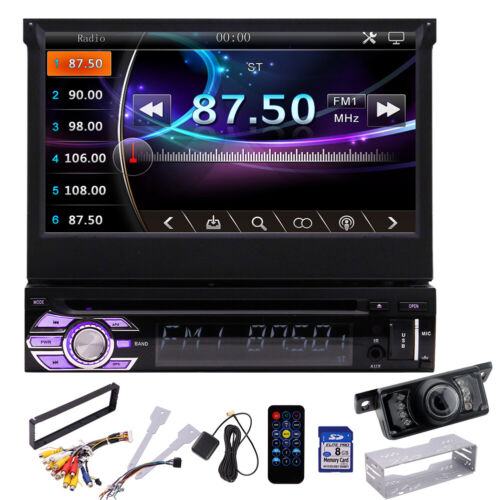 Car Radio Stereo GPS DVD Player Bluetooth 1 Din 7 Inch Touch screen With Camera