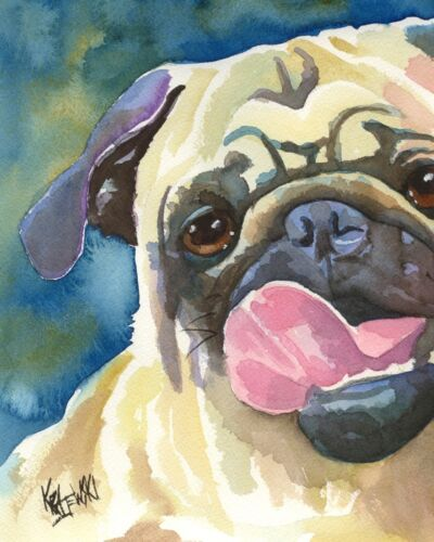 Pug Gifts | Art Print from Painting | Poster, Picture, Memorial, Portrait 11x14