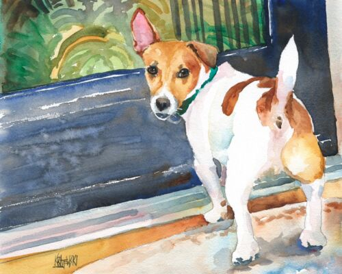 Jack Russell Terrier Art Print from Painting | Gifts, Portrait, Wall Art 8x10