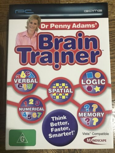 Brain Trainer PC Game by Dr Penny Adams NEW Improve Memory/Concentration/Logic