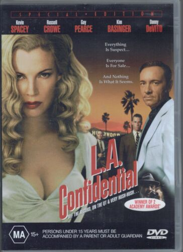 L.A. Confidential DVD Movie - Guy Pearce - Russel Crowe - FREE POST!