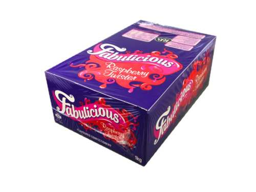RJs Fabulicious Raspberry Twister 1Kg Box RJs Red Licorice Lollies Wholesale
