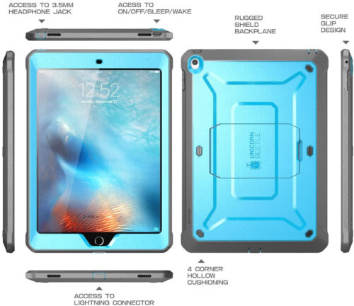 CASE For iPad 9.7 2018/2017 With Built-in Screen Protector Dual Layer Full Body