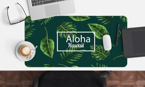 3D Green Leaves 654 Non-slip Office Desk Mouse Mat Large Keyboard Pad Mat Game