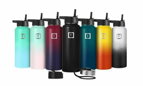 Iron Flask - 22 Oz To 64 Oz, Vacuum Insulated Stainless Steel Water Bottle Sport