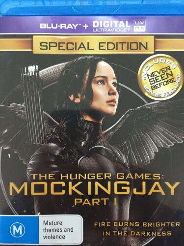 THE HUNGER GAMES: Mockingjay Part 1 (2014) - 2 x BLURAY AS NEW!