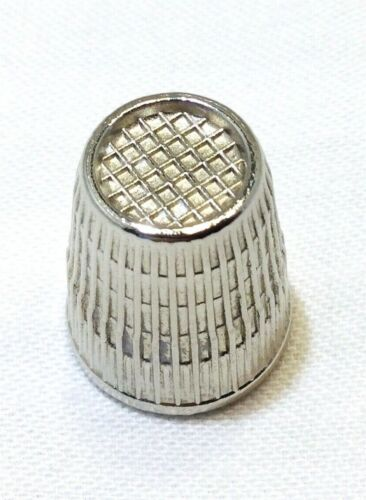 Silver Tone Thimble Size 8/16mm West Germany-Sewing.                      #1581