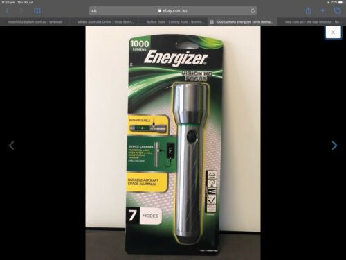 Energizers 1000 lumen rechargeable torch brand new