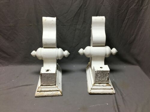 Pair Antique White Roof bracket Final Corbels Shabby Vintage Chic Old 714-20B