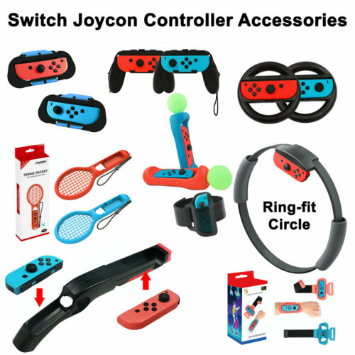 Nintendo Switch Controller Joy-Con Accessory Yoga Circle Ring Fit Tennis Racket