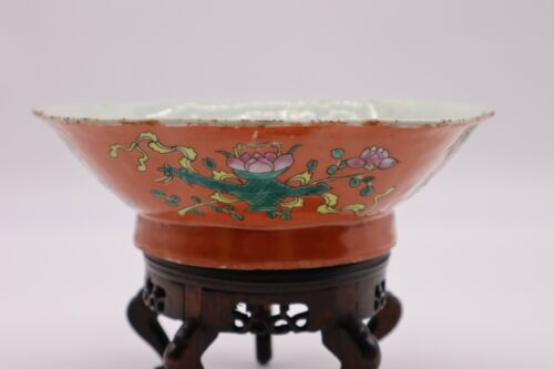 Chinese Antique Famille Rose Porcelain Plate With Flowers
