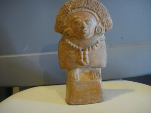 """PRE COLUMBIAN FIGURE 7"""" x 4. MAYAN CLASSIC PERIOD OVER 1000 YEARS OLD AUTHENTIC"""