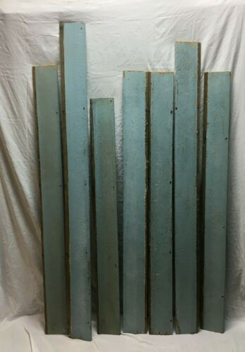 """Antique 100 Linear Feet 6"""" Baby Blue Country Clapboard Siding Projects 798-20B"""