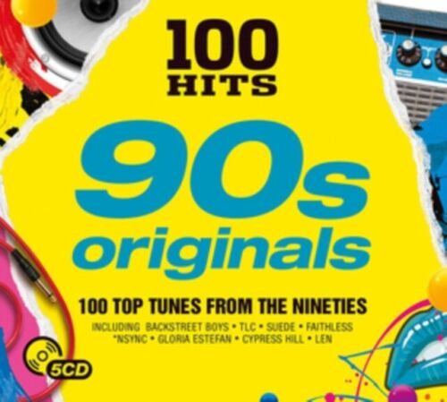 100 Hits The Nineties Originals Album best of 90's CD 5xCDs