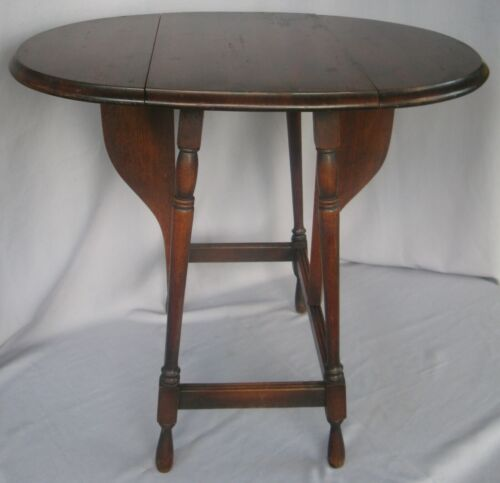 """ANTIQUE BUTTERFLY DROP LEAF TABLE ORIGINAL FINISH 22 3/4""""H CA EARLY 1900's"""