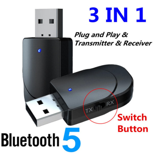USB Wireless Bluetooth 5.0 Transmitter & Receiver Adapter 3.5MM AUX Audio Music